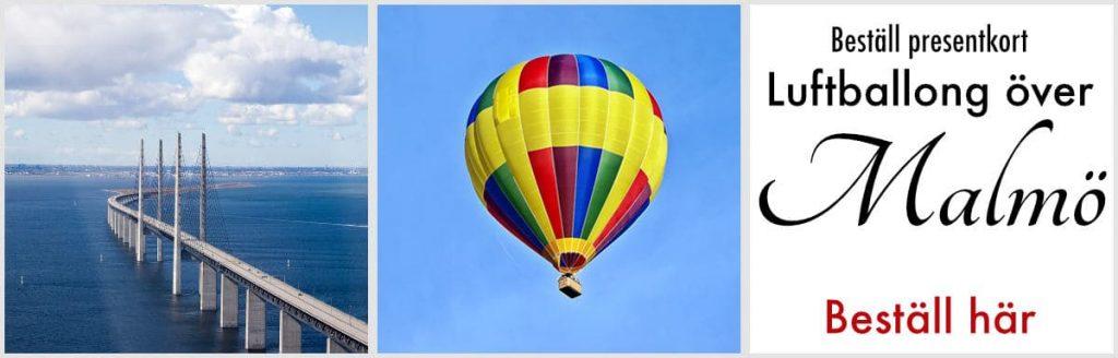 Luftballong över Malmö